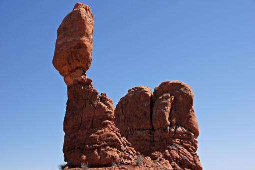 Free Stock Photo of Balanced Rock at Arches National Park