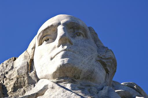 Free Stock Photo of George Washington at Mount Rushmore