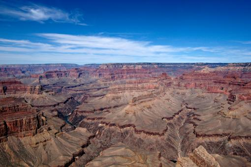 Free Stock Photo of Grand Canyon Afternoon Blue Sky