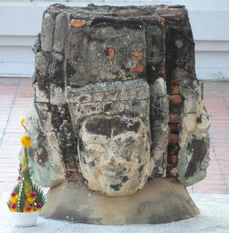Free Stock Photo of Buddha Faces Stone Statue