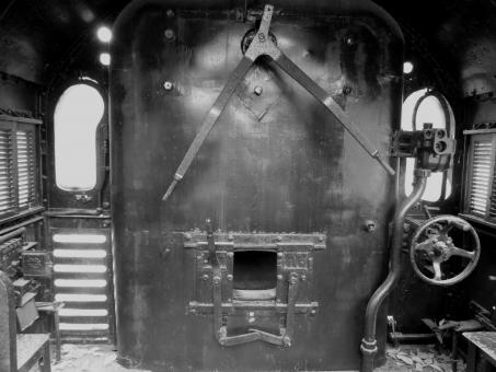 Free Stock Photo of Old Train Engine Room