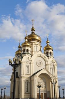 Free Stock Photo of Orthodox church against the blue sky