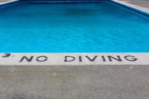 Free Stock Photo of No Diving