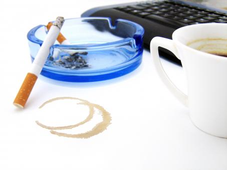 Free Stock Photo of coffee & cigarette
