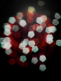 Free Stock Photo of Red and White Light Bokeh