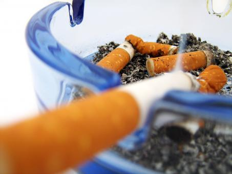 Free Stock Photo of Cigarettes in ashtray