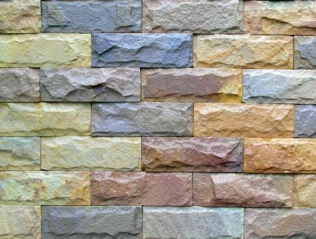 Free Stock Photo of Colored Brick Wall