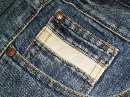 Free Stock Photo of Denim Jeans Pocket Close-up