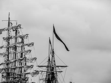 Free Stock Photo of Masts with a huge flag