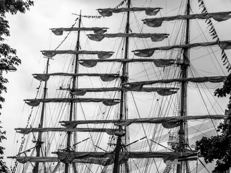 Free Stock Photo of Sailing ships sails