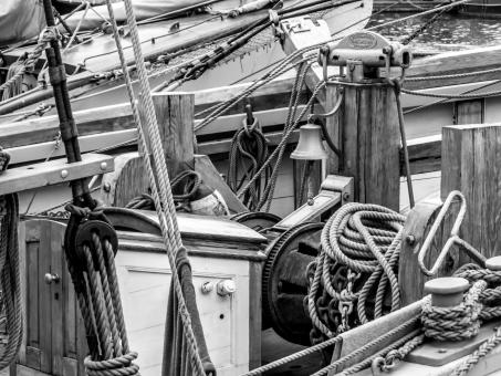 Free Stock Photo of Sailing ship's winch