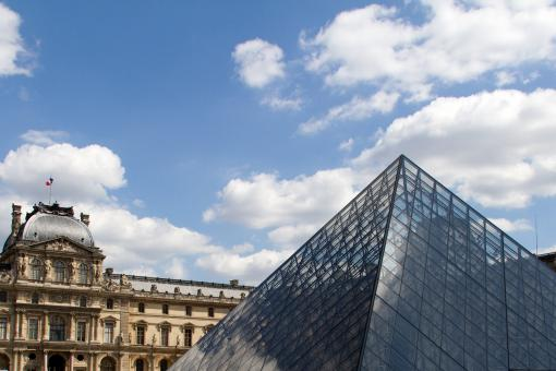 Free Stock Photo of Louvre Museum
