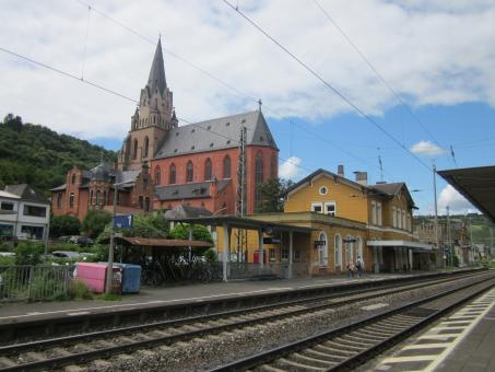 Free Stock Photo of Train station in Oberwesel, Germany