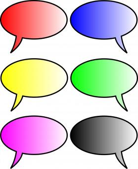 Free Stock Photo of Blank Speech Bubbles