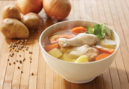 Free Stock Photo of Thai chicken soup