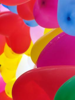 Free Stock Photo of Group of Colorful Balloons