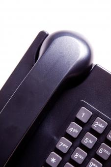 Free Stock Photo of Normal Black Telephone