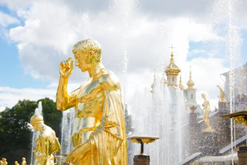 Free Stock Photo of St. Petersburg fountains