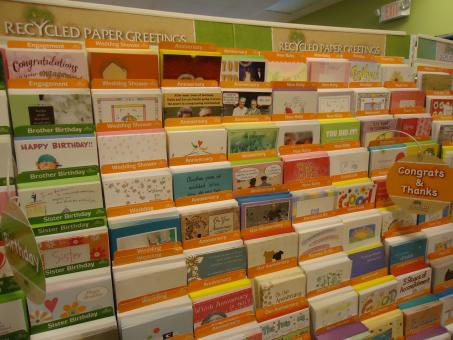 Free Stock Photo of Greeting cards display
