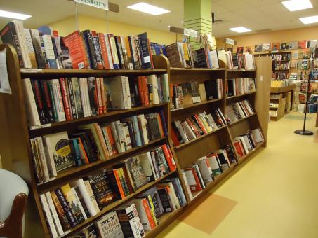 Free Stock Photo of Bookstore shelves