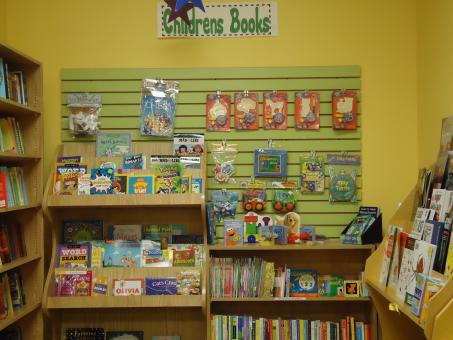Free Stock Photo of Kids books and toys display