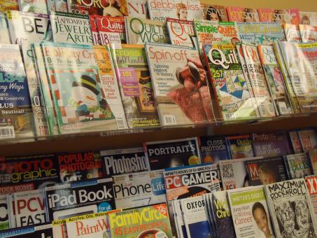 Free Stock Photo of Magazine rack