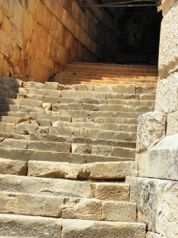 Free Stock Photo of Antique staircase in amphitheater of Myr