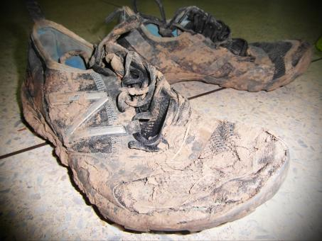 Free Stock Photo of Muddy Sport Shoes