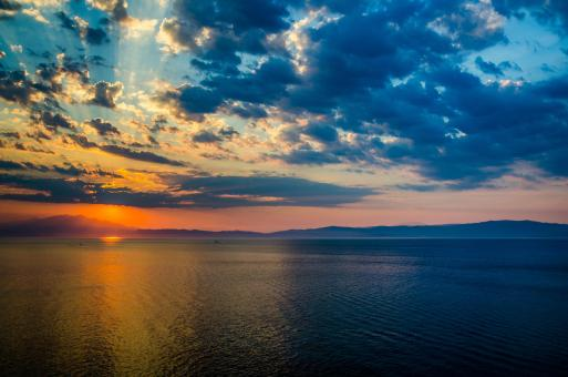 Free Stock Photo of Sunset in Thassos