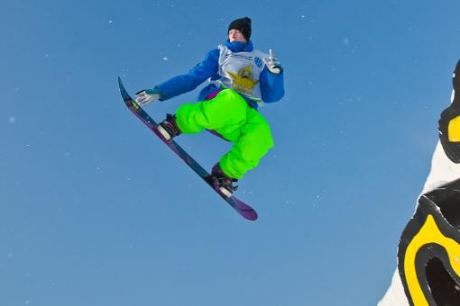 Free Stock Photo of Snowboarder