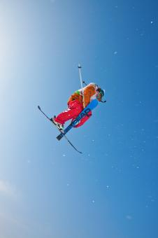 Free Stock Photo of skier