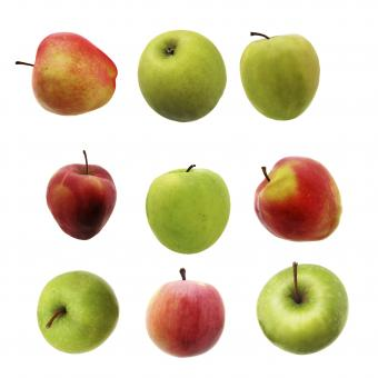 Free Stock Photo of set of apples
