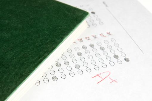 Free Stock Photo of School test