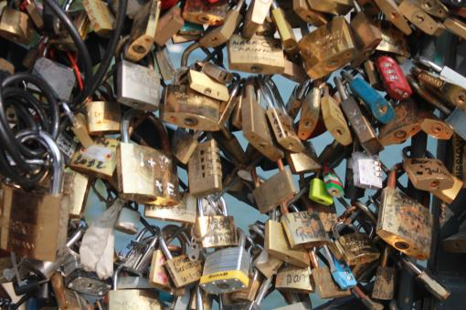 Free Stock Photo of Love Padlocks, Paris