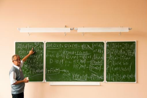 Free Stock Photo of Teacher and formulas