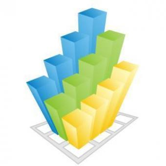 Free Stock Photo of Colorful business 3d Graph