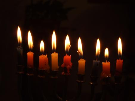 Free Stock Photo of Chanukah candles
