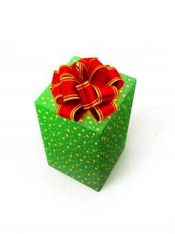 Free Stock Photo of Green Gift Box