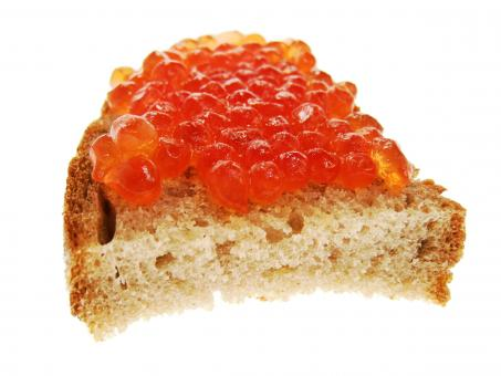 Free Stock Photo of sandwich with fish roe