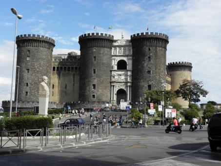 Free Stock Photo of The castle Castello Nuovo in Naples