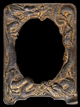 Free Stock Photo of Antique Frame - Rusty Dragons