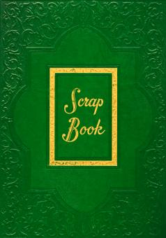 Free Stock Photo of Vintage Scrapbook Cover - Green