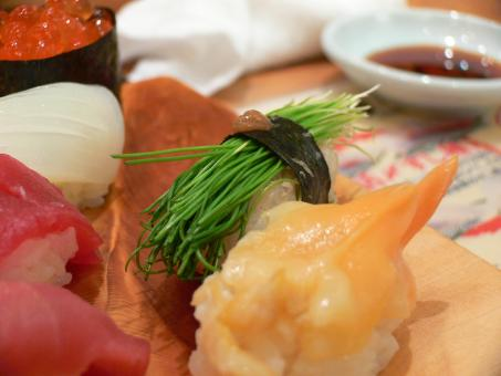 Free Stock Photo of assorted sushi closeup