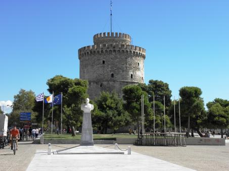 Free Stock Photo of The White Tower in Thessaloniki