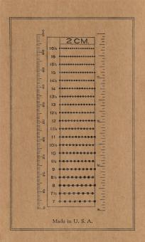 Free Stock Photo of Vintage Cardboard Ruler