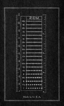 Free Stock Photo of Vintage Cardboard Ruler - Inverted Black