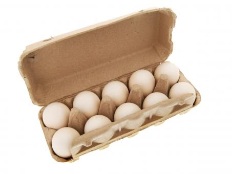 Free Stock Photo of Eggs in box