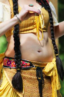 Free Stock Photo of Belly dancer
