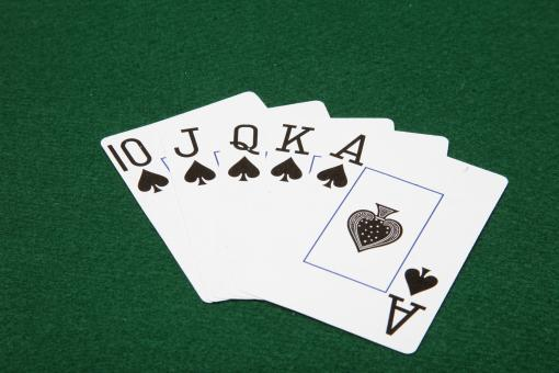Free Stock Photo of Royal Flush