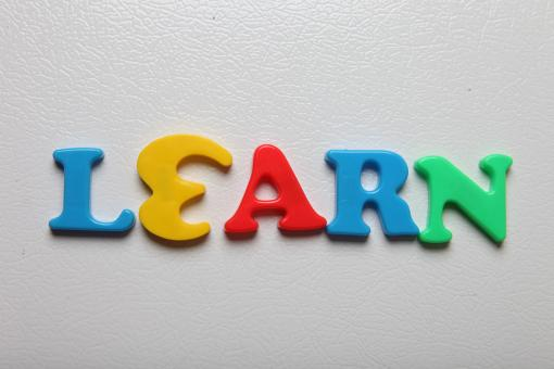 Free Stock Photo of Letters spelling Learn